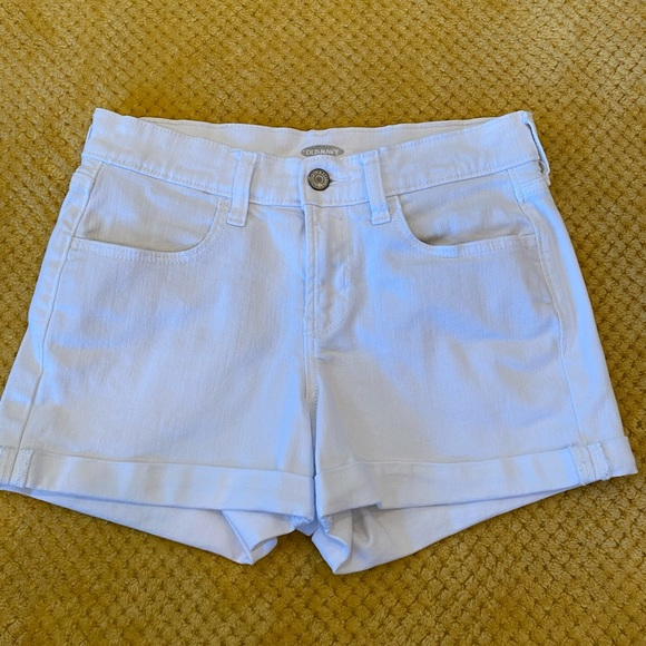 Women's, white denim jeans shorts.